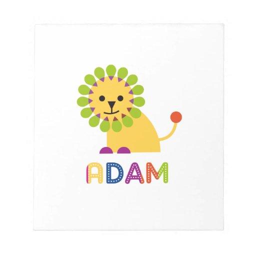 Adán ama leones blocs de papel