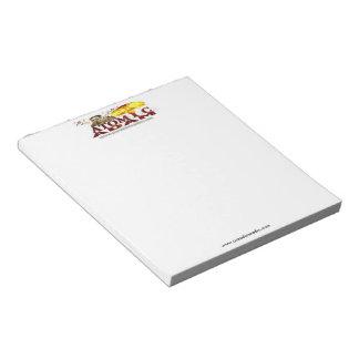 """(Adán atómico) 5,5"""" x 6"""" libreta: 40 páginas Bloc De Notas"""