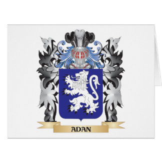 Adan Coat of Arms - Family Crest Large Greeting Card