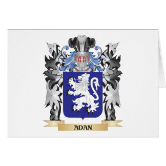Adan Coat of Arms - Family Crest Stationery Note Card
