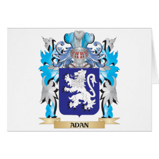 Adan Coat Of Arms Greeting Card