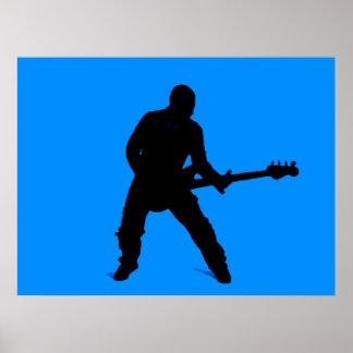 Adán en la guitarra baja poster