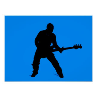 Adán en la guitarra baja póster