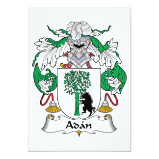 Adan Family Crest 5x7 Paper Invitation Card