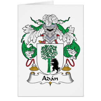 Adan Family Crest Greeting Card
