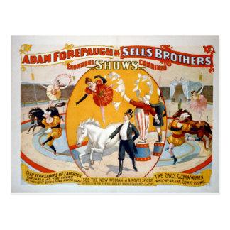 Adán Forepaugh y hermanos de las ventas Postales