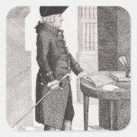 Adán Smith Pegatina Cuadrada