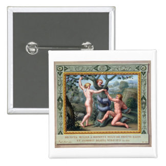 Adán y Eva con la serpiente, ejemplo de t Pins