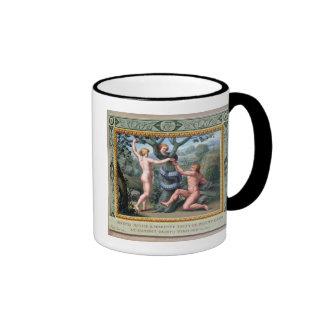Adán y Eva con la serpiente, ejemplo de t Taza De Dos Colores