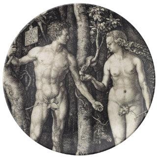 Adán y Eva de Albrecht Durer Platos De Cerámica