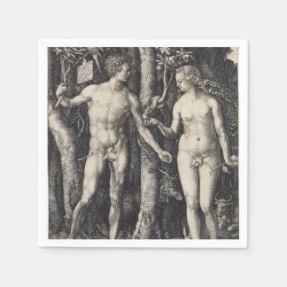 Adán y Eva de Albrecht Durer Servilletas De Papel