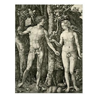 Adán y Eva de Albrecht Durer Tarjetas Postales