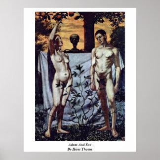 Adán y Eva de Hans Thoma Impresiones