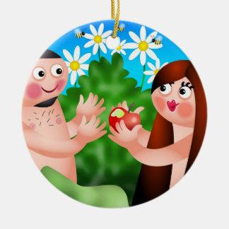 Adán y Eva Ornaments Para Arbol De Navidad