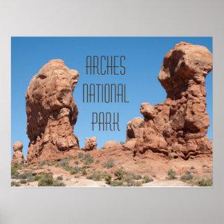 Adán y Eva en el jardín de Eden, arcos, Moab Póster