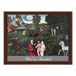Adán y Eva en el jardín de Eden de Adán y de Eva Comunicados Personales