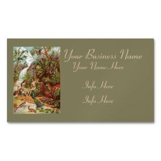 Adán y Eva en el jardín Tarjetas De Visita Magnéticas (paquete De 25)