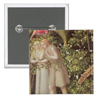 Adán y Eva expulsados de paraíso Pin Cuadrado