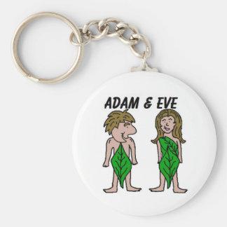 Adán y Eva Llavero Redondo Tipo Pin