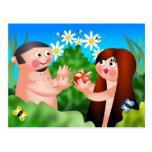 Adán y Eva Tarjetas Postales