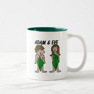 Adán y Eva Taza De Dos Tonos