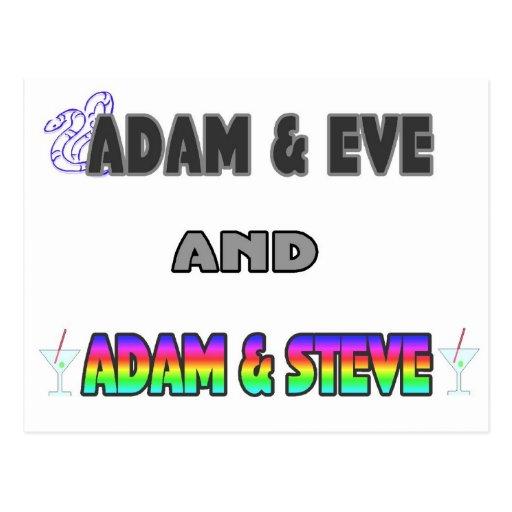Adán y Eva y Adán y Steve Postal