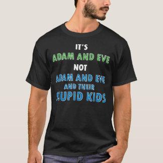 Adán y Eva y niños (la oscuridad de los hombres) Playera