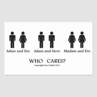 ¡Adán y Eva y… pegatinas! Rectangular Pegatinas