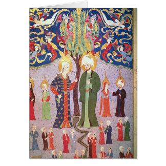 Adán y Eva y sus trece gemelos Tarjeta De Felicitación