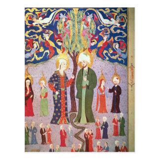 Adán y Eva y sus trece gemelos Tarjeta Postal