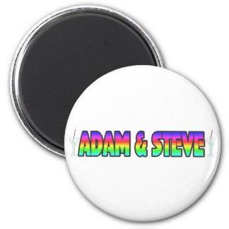 Adán y Steve Imán Redondo 5 Cm