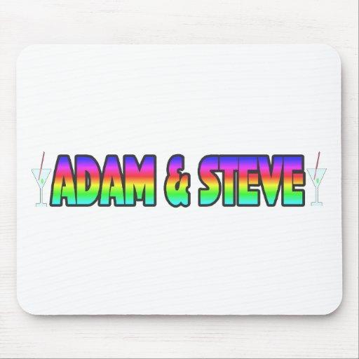 Adán y Steve Tapetes De Raton