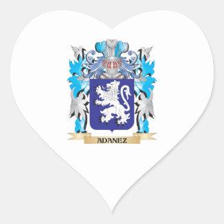 Adanez Coat Of Arms Heart Sticker