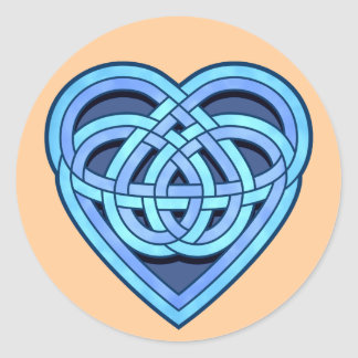 Adanvdo Heartknot Round Sticker