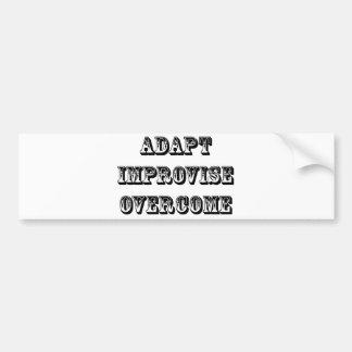 Adapt-Improvise-Overcome Bumper Sticker