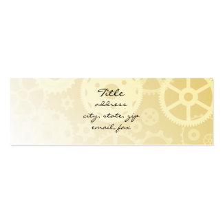Adapta fadeout en oro tarjetas de visita mini