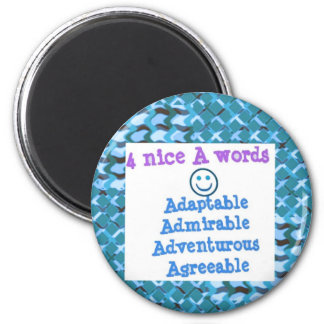 ADAPTABLE Agreeable Admirable - LOWPRICE GIFTS Refrigerator Magnets