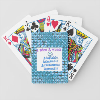 ADAPTABLE Agreeable Admirable - LOWPRICE GIFTS Bicycle Poker Deck