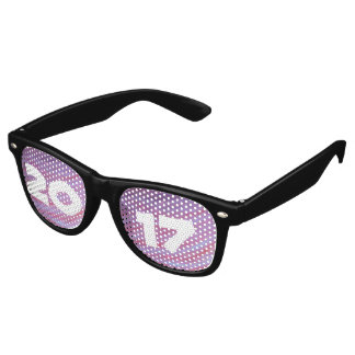 Adaptable Grad | Name Year Pink Purple Zebra Gift Retro Sunglasses