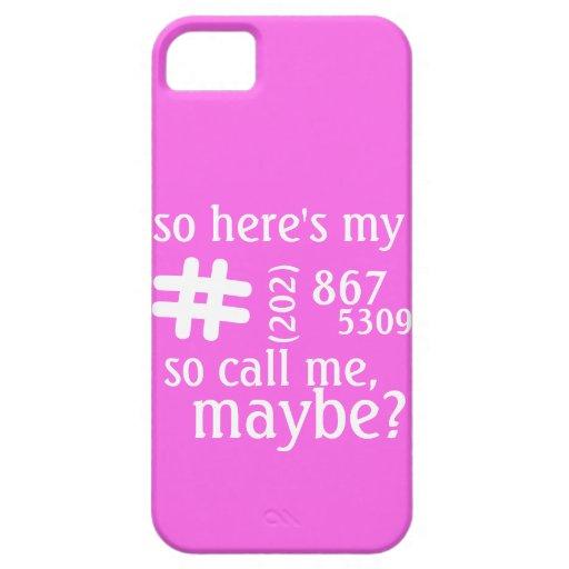 Adaptable llámeme llaman por teléfono quizá al cas iPhone 5 Case-Mate fundas