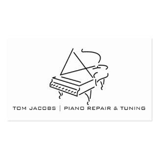 Adaptación de las lecciones de piano, del piano y tarjetas de visita
