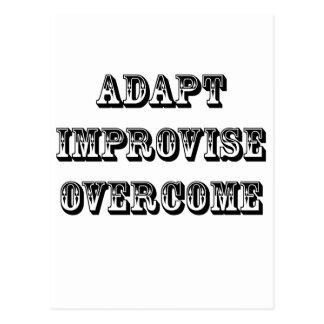 Adaptar-Improvisar-Supere Tarjeta Postal
