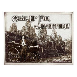 Adapte para arriba para la postal de la aventura