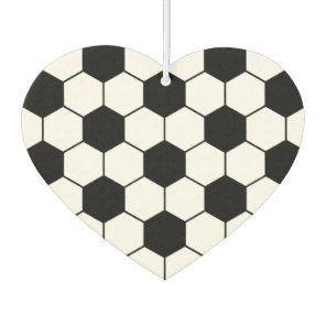 Adapted Soccer Ball pattern Black White Air Freshener