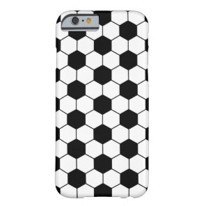 Adapted Soccer Ball pattern Black White Barely There iPhone 6 Case