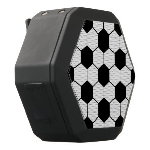 Adapted Soccer Ball pattern Black White Black Bluetooth Speaker