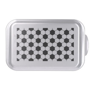 Adapted Soccer Ball pattern Black White Cake Pan