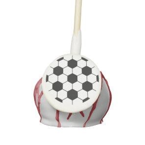 Adapted Soccer Ball pattern Black White Cake Pops