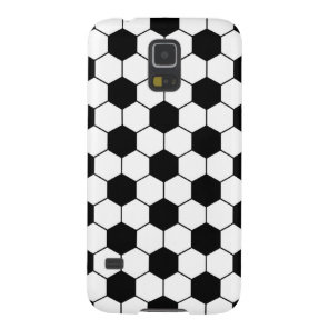 Adapted Soccer Ball pattern Black White Case For Galaxy S5
