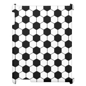 Adapted Soccer Ball pattern Black White Case For The iPad